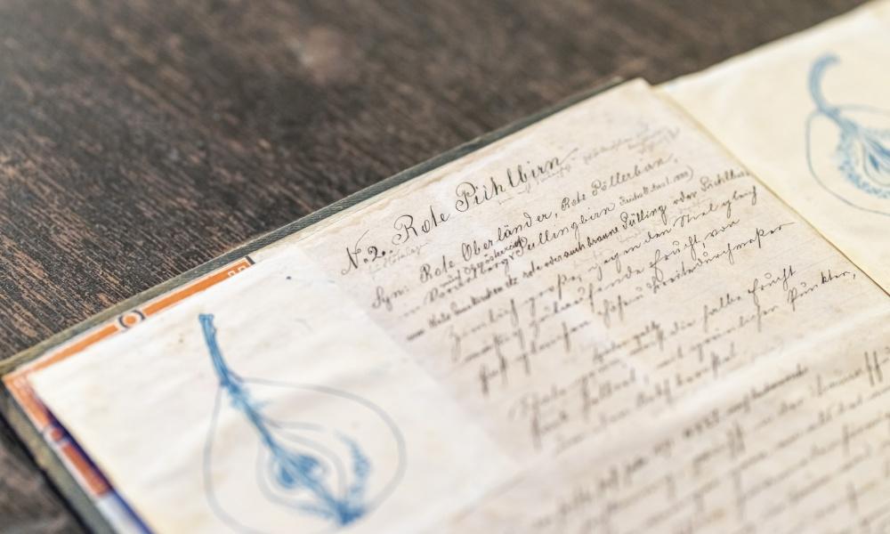 Das originale Skizzenbuch aus dem Jahre 1890.