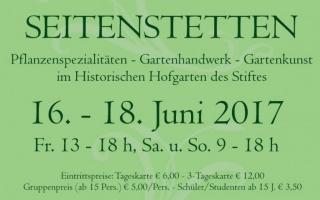 Plakat Gartentage 2017