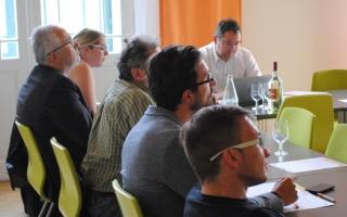 Foto: Interessierte Teilnehmer aus den Moststraße-Gemeinden beim Vortrag