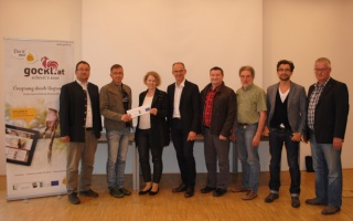 Foto (v.l.n.r.): GGR Klaus Nagelhofer, GGR Andreas Haag, Vbgm. Sabine Dorner, Mag. Arnold Oberacher, Vbgm. Franz Eder, Vbgm. Josef Alkin, GR Markus Schreiner, Bgm. Franz Wurzer